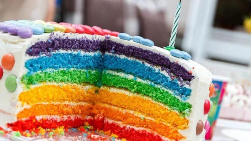 gateau d'anniversaire multicolor enfant