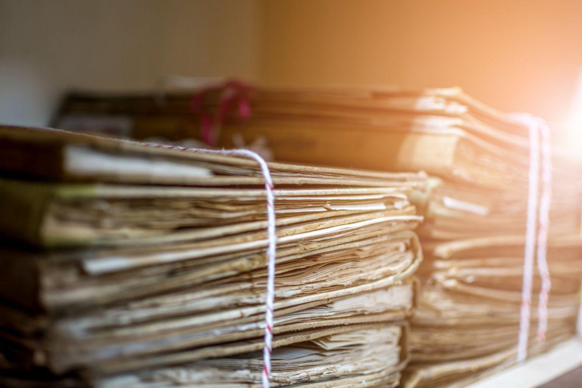Tas de papiers administratif