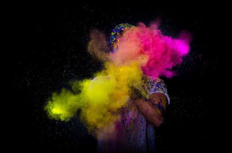 Poudre Holi / Poudre de couleur à lancer
